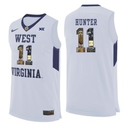Women's West Virginia Mountaineers #11 D'Angelo Hunter Authentic College Basketball Jersey White
