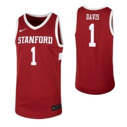 Women's Daejon Davis Authentic College Basketball Jersey Cardinal Stanford Cardinal