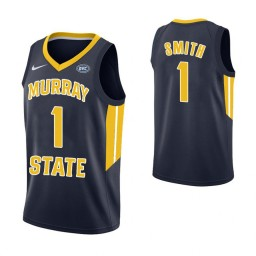 Women's Murray State Racers #1 DaQuan Smith Authentic College Basketball Jersey Navy