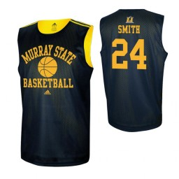 Women's Murray State Racers #1 DaQuan Smith Navy Blue Authentic College Basketball Jersey