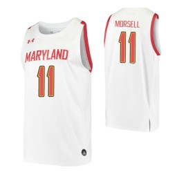 Women's Maryland Terrapins #11 Darryl Morsell White Authentic College Basketball Jersey
