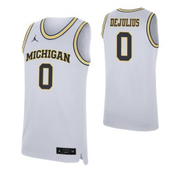 Youth David DeJulius Authentic College Basketball Jersey White Michigan Wolverines