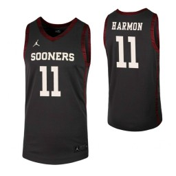 Youth De'Vion Harmon Authentic College Basketball Jersey Anthracite Oklahoma Sooners