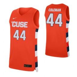 Women's Derrick Coleman Authentic College Basketball Jersey Orange Syracuse Orange