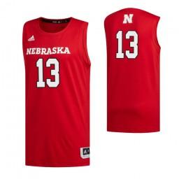 Women's Nebraska Cornhuskers 13 Derrick Walker Authentic College Basketball Jersey Scarlet