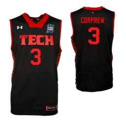 Youth Deshawn Corprew Texas Tech Red Raiders Black 2019 Final Four Authentic College Basketball Jersey