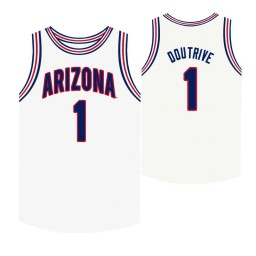 Youth Arizona Wildcats #1 Devonaire Doutrive White Authentic College Basketball Jersey