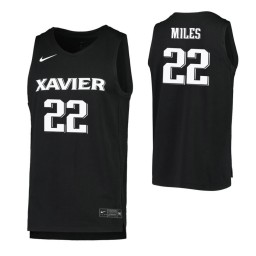 Women's Dieonte Miles Authentic College Basketball Jersey Black Xavier Musketeers