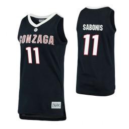 Gonzaga Bulldogs #11 Domantas Sabonis Navy Authentic College Basketball Jersey