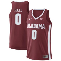 Youth Alabama Crimson Tide #0 Donta Hall Authentic College Basketball Jersey Red