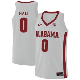 Youth Alabama Crimson Tide #0 Donta Hall Authentic College Basketball Jersey White
