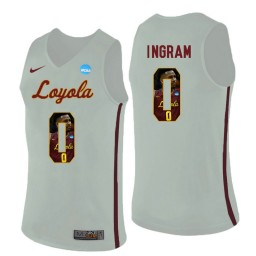 Women's Loyola (Chi) Ramblers #0 Donte Ingram Authentic College Basketball Jersey White