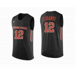 Women's Oregon State Beavers #12 Drew Eubanks Authentic College Basketball Jersey Black