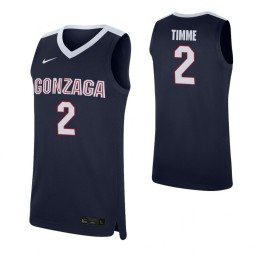 Drew Timme Authentic College Basketball Jersey Navy Gonzaga Bulldogs