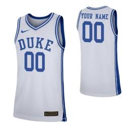 Duke Blue Devils Replica Custom Jersey White