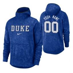 Duke Blue Devils Custom Royal Basketball Spotlight Pullover Hoodie