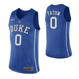 Women's Duke Blue Devils #0 Jayson Tatum Authentic College Basketball Jersey Blue