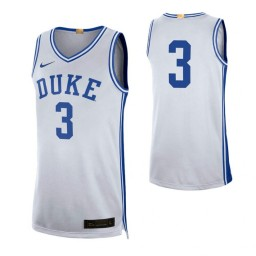 Duke Blue Devils #3 Limited Authentic College Basketball Jersey White