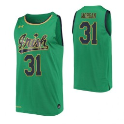 Elijah Morgan Authentic College Basketball Jersey Kelly Green Notre Dame Fighting Irish