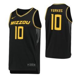 Youth Missouri Tigers #10 Evan Yerkes Black Authentic College Basketball Jersey
