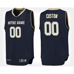 Notre Dame Fighting Irish #00 Custom Navy Home Jersey College Basketball