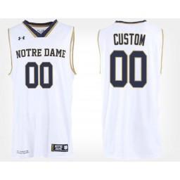 Notre Dame Fighting Irish #00 Custom White Road Jersey College Basketball