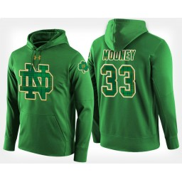Notre Dame Fighting Irish #33 John Mooney Green St. Patrick's Day Hoodie College Basketball