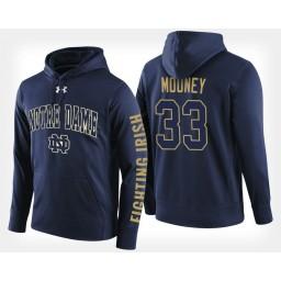 Notre Dame Fighting Irish #33 John Mooney Navy Hoodie College Basketball