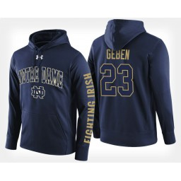 Notre Dame Fighting Irish #23 Martinas Geben Navy Hoodie College Basketball