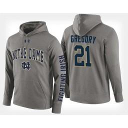 Notre Dame Fighting Irish #21 Matt Gregory Gray Hoodie College Basketball