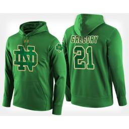 Notre Dame Fighting Irish #21 Matt Gregory Green St. Patrick's Day Hoodie College Basketball
