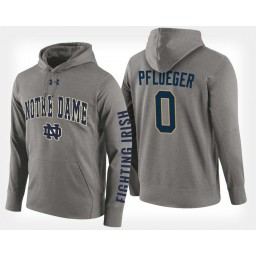 Notre Dame Fighting Irish #0 Rex Pflueger Gray Hoodie College Basketball