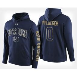 Notre Dame Fighting Irish #0 Rex Pflueger Navy Hoodie College Basketball