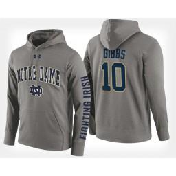 Notre Dame Fighting Irish #10 T.J. Gibbs Gray Hoodie College Basketball