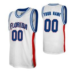 Florida Gators Custom College Basketball Alumni Jersey White