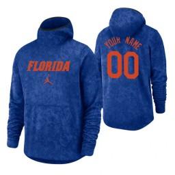 Florida Gators Custom Royal Basketball Spotlight Pullover Hoodie