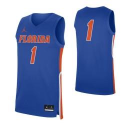 Women's Florida Gators #1 Authentic College Basketball Jersey Royal