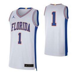 Florida Gators # Retro Limited Authentic College Basketball Jersey White