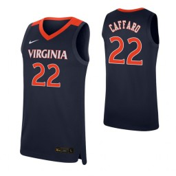 Youth Francisco Caffaro Authentic College Basketball Jersey Navy Virginia Cavaliers