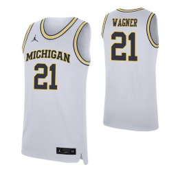 Youth Franz Wagner Authentic College Basketball Jersey White Michigan Wolverines