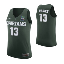 Women's Gabe Brown Michigan State Spartans Green 2019 Final Four Authentic College Basketball Jersey