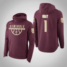 Florida State Seminoles #1 Raiquan Gray Men's Garnet Elite College Basketball Hoodie