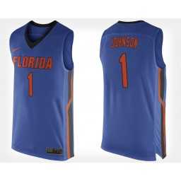 Women's Florida Gators #1 Chase Johnson Blue Home Authentic College Basketball Jersey