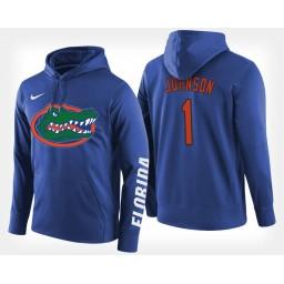 Florida Gators #1 Chase Johnson Blue Hoodie College Basketball