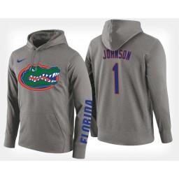 Florida Gators #1 Chase Johnson Gray Hoodie College Basketball