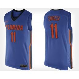 Women's Florida Gators #11 Chris Chiozza Blue Home Authentic College Basketball Jersey