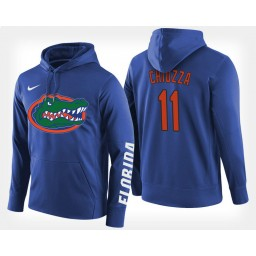 Florida Gators #11 Chris Chiozza Blue Hoodie College Basketball