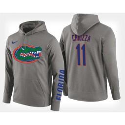 Florida Gators #11 Chris Chiozza Gray Hoodie College Basketball