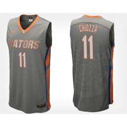 Women's Florida Gators #11 Chris Chiozza Gray Road Authentic College Basketball Jersey