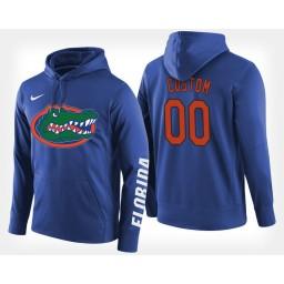 Florida Gators #00 Custom Blue Hoodie College Basketball